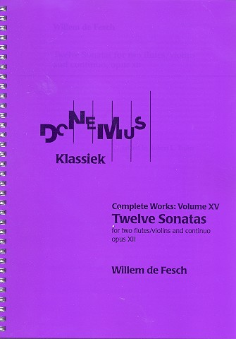 12 Sonatas opus.12: for 2 flutes (violins) and Bc