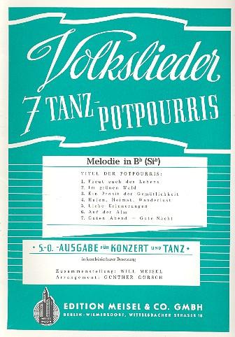 7 Volkslieder-Tanzpotpourris: Melodie in B