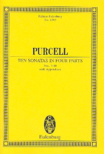 10 SONATAS IN 4 PARTS VOL.2 (NOS.7-10) WITH APPENDICES: FOR 2 VIOLINS, BASS