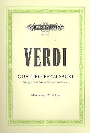 Verdi, Giuseppe - 4 pezzi sacri für gem Chor
