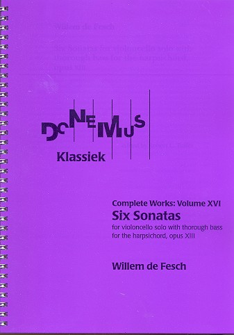 6 Sonatas opus.13: for violoncello with thorough bass for the harpsichord