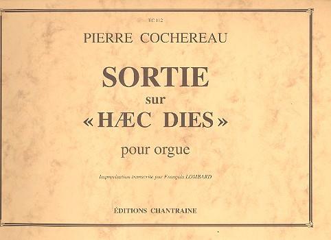 Sortie sur haec dies: pour orgue