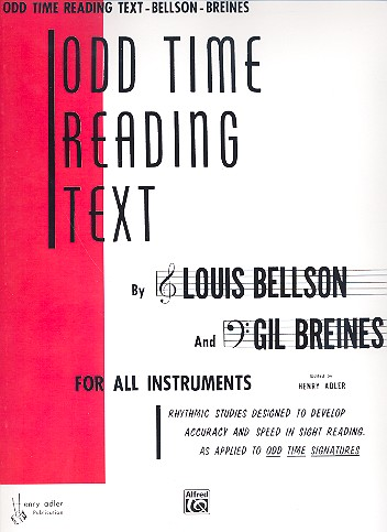 Odd Time Reading Text: for all instruments (bass and treble clef)