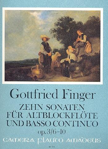 10 Sonaten opus.3 Band 2 (Nr.6-10): für Altblockflöte und BC