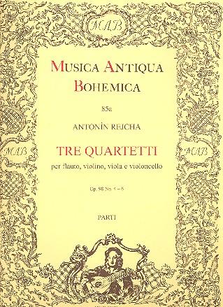 3 Quartette opus.98,4-6: für Flöte, Violine, Viola und Violoncello
