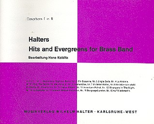 Halters Hits and Evergreens Band 1: für Blasorchester
