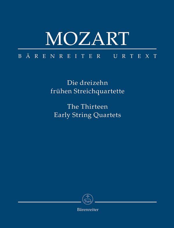 Die 13 frühen Streichquartette Studienpartitur