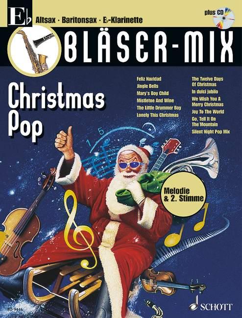 Bläser-Mix (+CD): Christmas Pop für Es-Instrumente