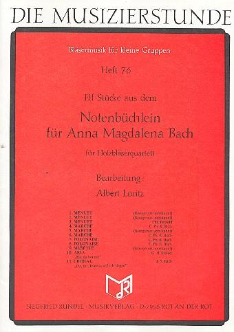 11 Stücke aus dem Notenbüchlein für Anna Magdalena Bach: für