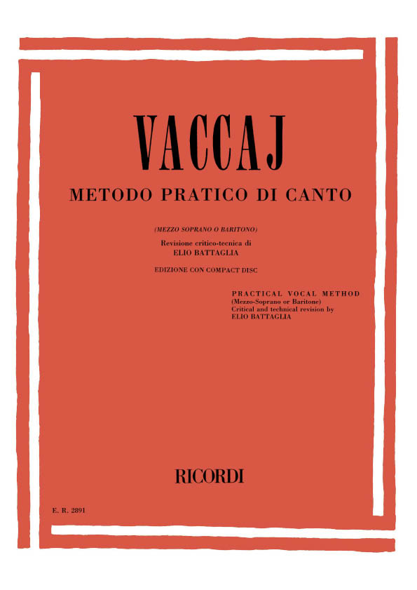 Metodo pratico di canto (+CD): per mezzo soprano o baritono