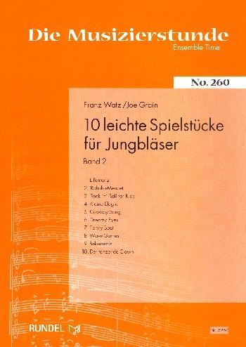10 leichte Stücke für Jungbläser Band 2