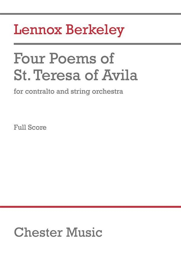 4 Poems of St. Teresa of Avila: for contralto with string orchestra, full score