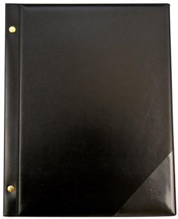 Chormappe mit Buchschrauben 15 Taschen schwarz