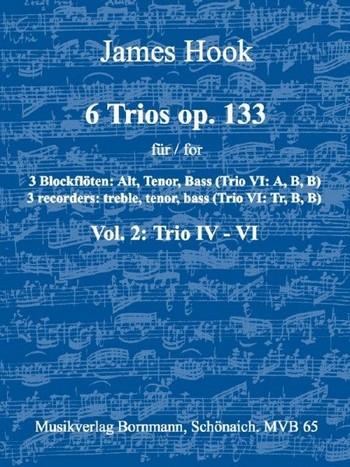 6 Trios opus.133 Band 2 (Nr.4-6): für 3 Blockflöten (ATB)