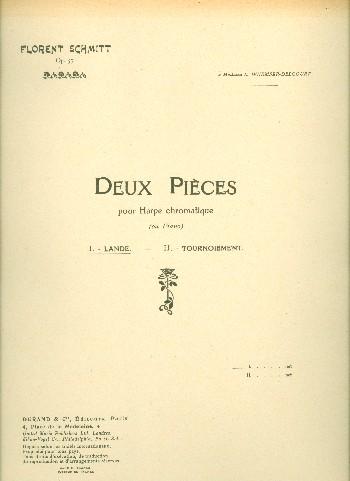 2 pièces opus.57,1: lande pour harpe chromatique ou piano