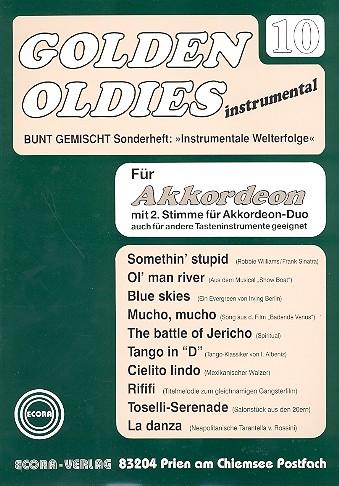 Golden Oldies Band 10: für Akkordeon solo, duo oder andere Tasteninstrumente