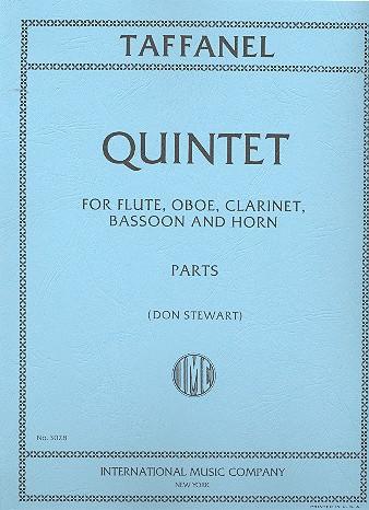 Taffanel, Paul - Quintet : for flute, oboe, clarinet,