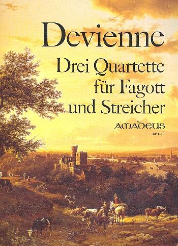 3 Quartette opus.73: für Fagott und Streichtrio, Stimmen