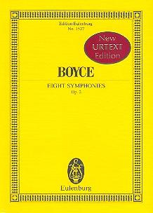 8 Sinfonien opus.2: für Orchester Studienpartitur