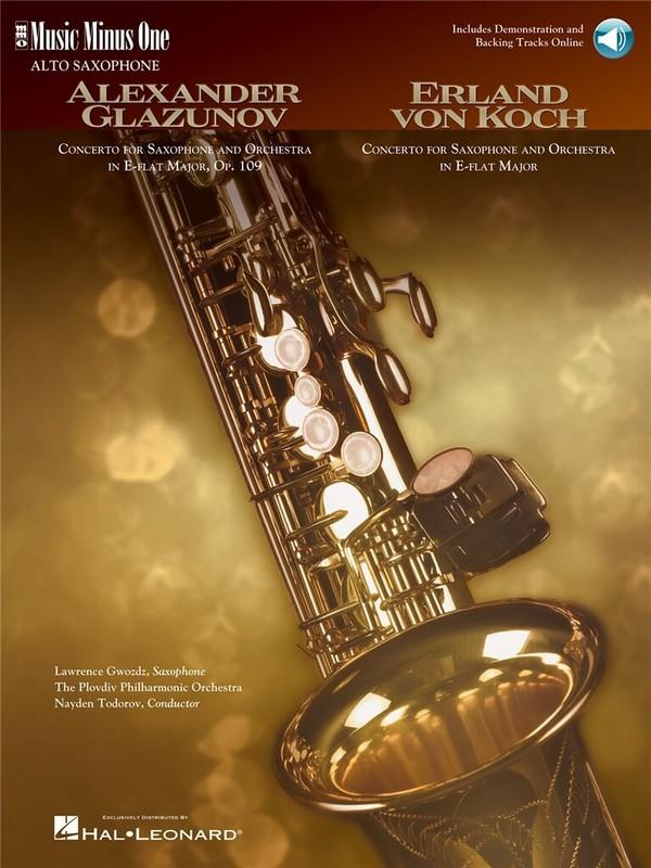 MUSIC MINUS ONE ALTO SAXOPHONE: CONCERTO OP.109 (GLAZUNOV)  AND