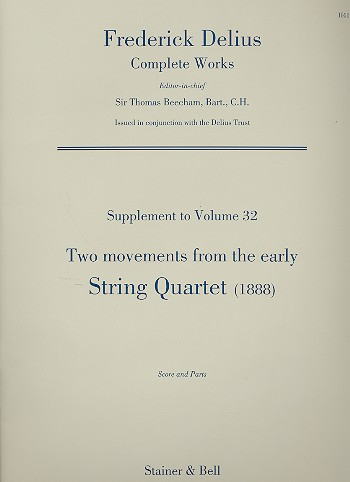 2 Movements from the early String Quartet (1888)