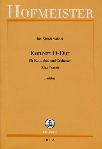 Konzert D-Dur: für Kontrabass und Orchester