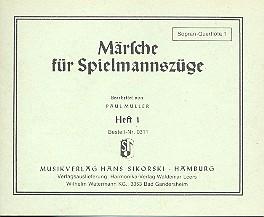 Märsche für Spielmannszüge 1 (2Flöten, Trommel): Sopranquerflöte 1