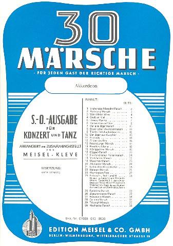 30 Märsche: für Salonorchester Akkordeon