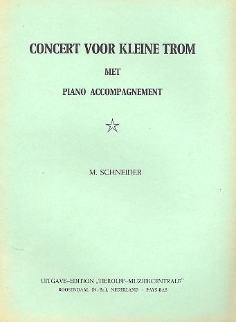Concert voor kleine trom met piano accompagnement
