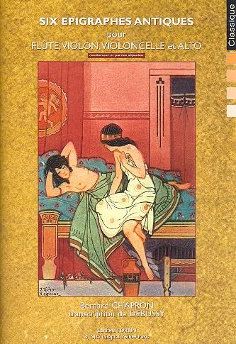 Debussy, Claude - 6 epigraphes antiques : pour flute,