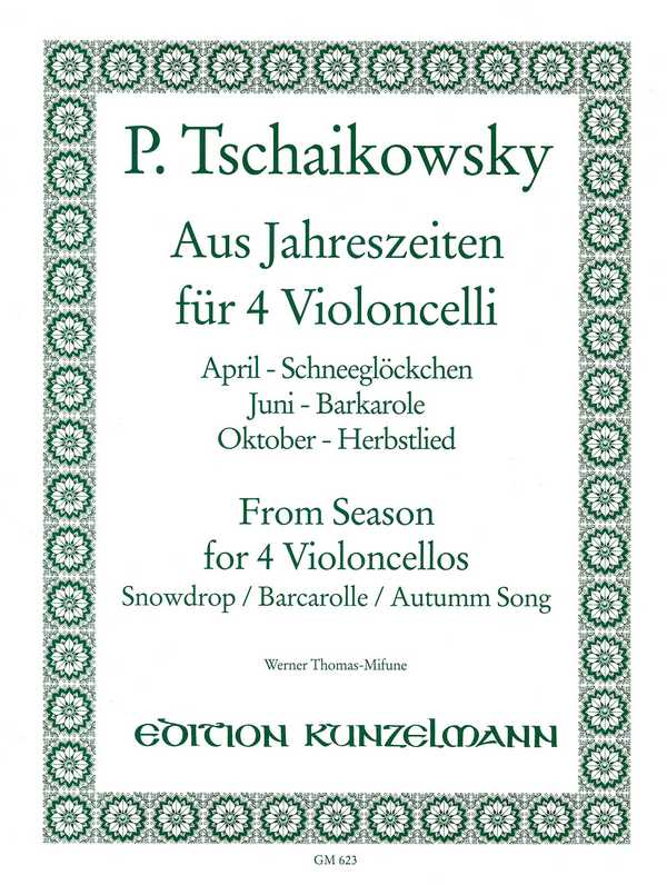 3 Stücke aus 4 Jahreszeiten: für 4 Violoncelli