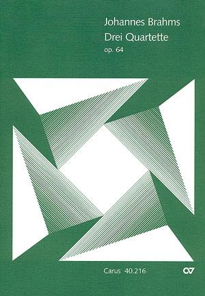 3 Quartette opus.64: für Sopran, Alt, Tenor, Baß und Klavier
