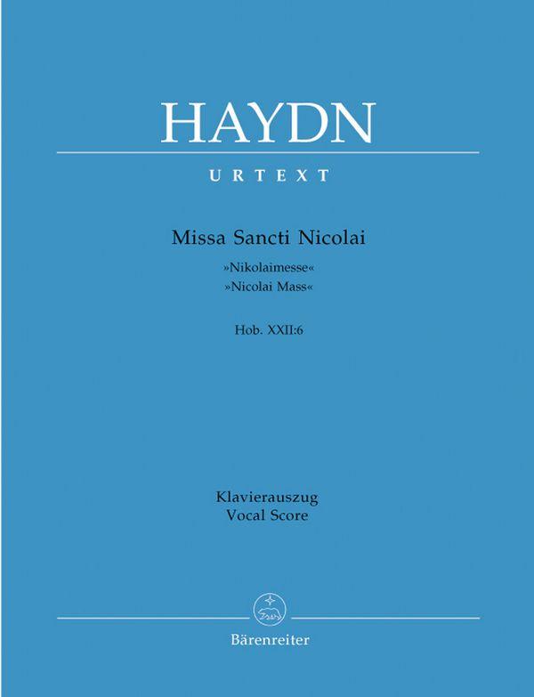 Missa Sancti Nicolai G-Dur Hob.XXII:6: für Soli, Chor und Orchester
