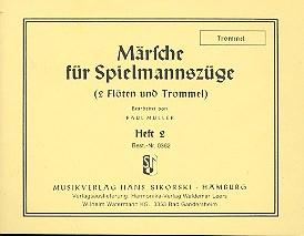 Märsche für Spielmannszüge 2 (2 Flöten, Trommel): Trommel
