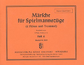 Märsche für Spielmannszüge 2 (2 Flöten, Trommel): Sopranquerflöte 2