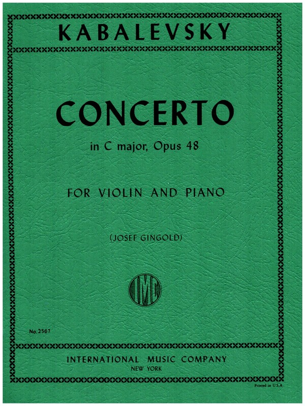 Kabalewski, Dmitri - Concerto C major op.48 : for