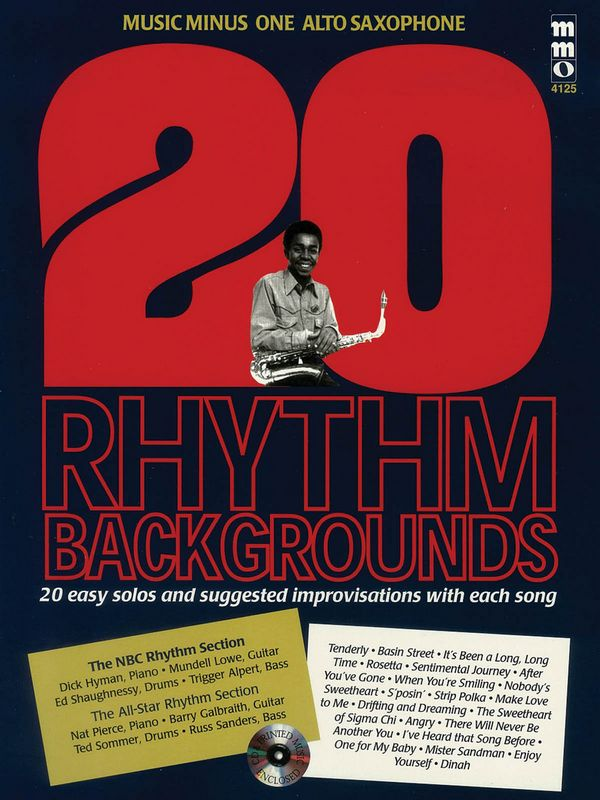 Music minus one alto sax: Book + CD 20 rhythm backgrounds