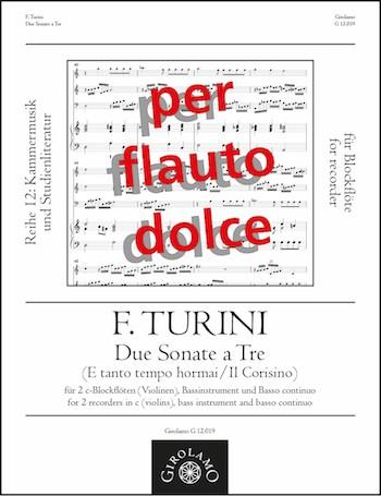 2 Sonate a tre: für 2 Blockflöten (SS), Bassinstrument und Bc
