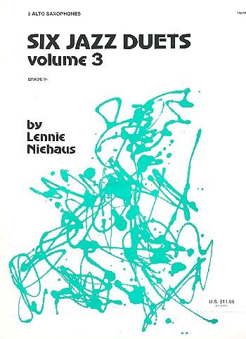 6 Jazz Duets vol.3 (nos.3-6): for 2 alto saxophones
