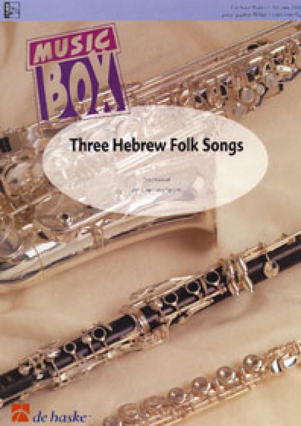 3 Hebrew Folk Songs: für 4 Flöten Partitur und Stimmen