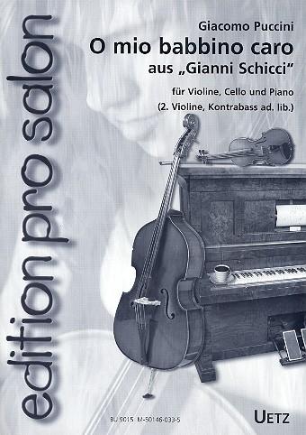 Puccini, Giacomo - O mio babbino caro : für Klaviertrio