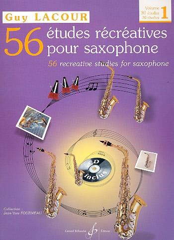 Lacour, Guy - 56 études récréatives vol.1 (+CD) :