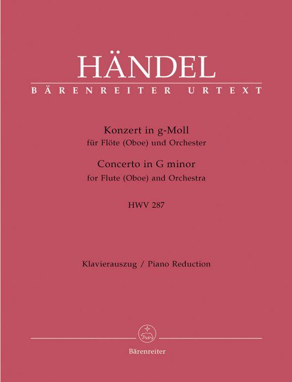 Konzert g-Moll Nr.3 HWV287: für Flöte (Oboe) und Streichorchester