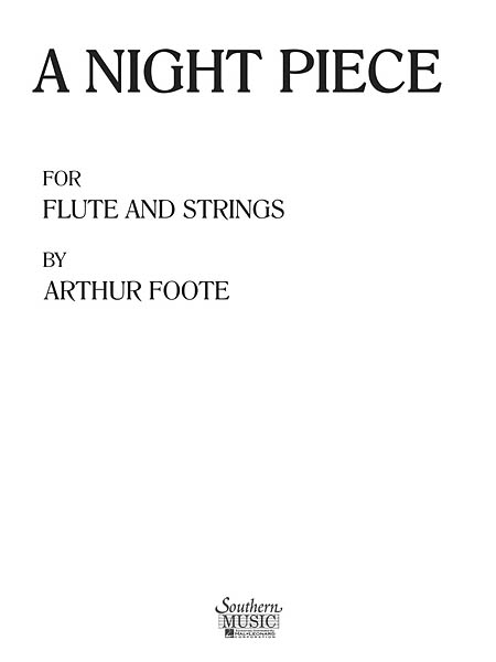 A Night Piece: for flute and string orchestra