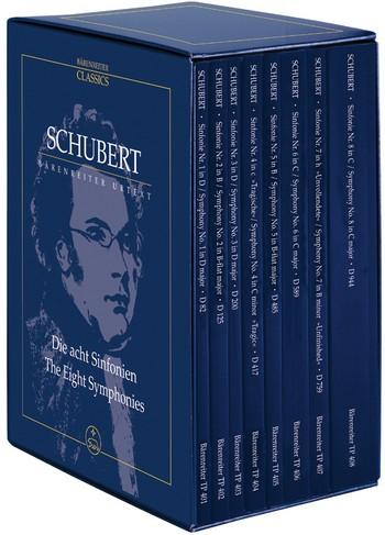 Die 8 Sinfonien: 8 Studienpartituren im Schuber