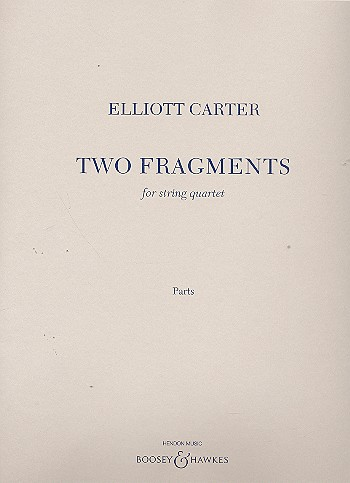 2 Fragments: for string quartet