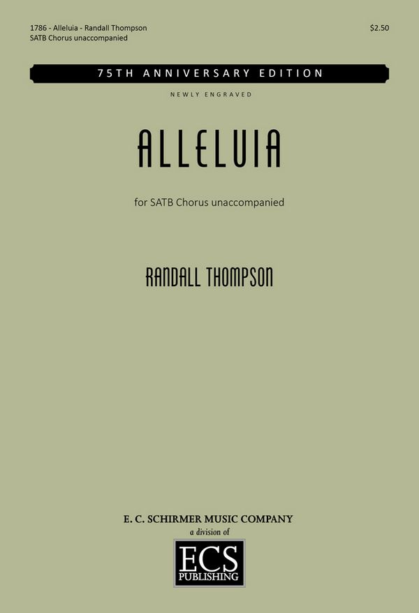 Alleluia: for mixed chorus a cappella score