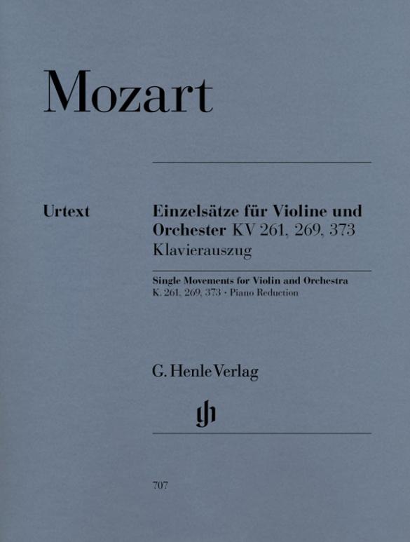 Mozart, Wolfgang Amadeus - Einzelsätze für Violine und Orchester :