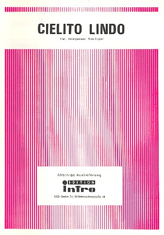 Cielito Lindo: Einzelausgabe Gesang und Klavier (sp)
