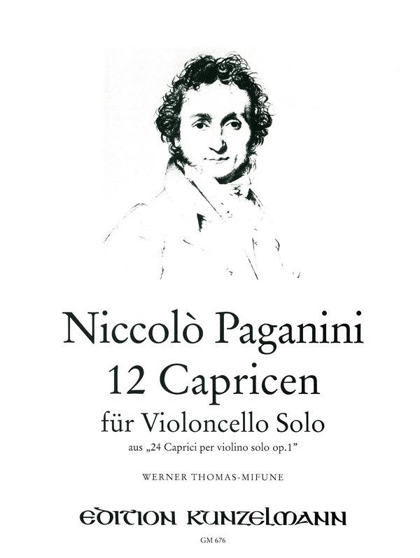 12 Capricen aus opus.1: für Violoncello
